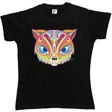 Estilo indio decorado Cara de Gato señoras de mujer T-Shirt