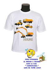tee shirt enfant garçon camion grue personnalisable réf 114