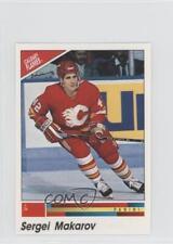1990 Panini Album Stickers #334 Sergei Makarov Calgary Flames Rookie Hockey Card