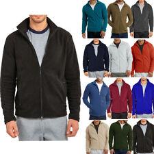 Mens Polar Fleece Jacket Long Sleeve Zip up Winter Turtleneck S M L XL 2X 3X