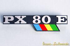 """VESPA Emblem Schriftzug Seitenhaube - """"PX 80 E"""" Lusso / PX80E Arcobaleno - Chrom"""