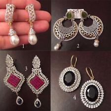 Rhinestone earrings Ruby Topaz Sapphire Pearl earrings Mother's day jewelry gift