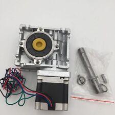 Nema23 Stepper Motor Worm Gearbox 7.5:1 10:1 15:1 20:1 30:1 Reducer L56 76 112mm