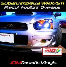 04 05 WRX STi Fog light PRECUT JDM Yellow Overlays TINT