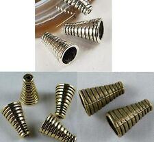 80pcs Tibetan Silver/Gold/Bronze Color Cone Bead Caps 16x10mm 8560