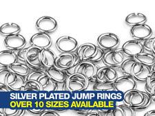 SILVER Plated Salto Anelli Confezione da 100-Scegli tra oltre 10 Stili