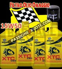 4LT Olio Motore Bardahl XTC C60 15W50 + filtro Tagliando Ducati Monster 900