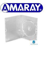 Standard singolo TRASPARENTE Dvd Casi 14 mm spina dorsale Vuoto Nuovo Rivestimento di ricambio AMARAY