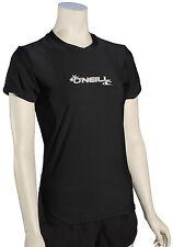 O'Neill Women's Basic Skins SS Surf Shirt - Black - New