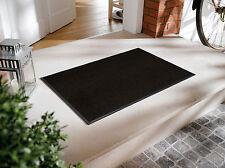 Fußmatte WMK wash + dry Monocolour Raven black schwarz in 7 Größen lieferbar
