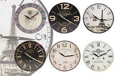 schöne Wanduhr im Vintage-Look Paris London Design Wand Uhr SHABBY CHIC Clock
