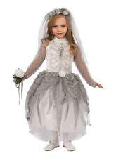 Girls Skeleton Zombie Bride Halloween Fancy Dress Corps