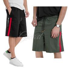 Pantalone Uomo Corto Bermuda Elastico Righe Laterali Vari Colori GIOSAL