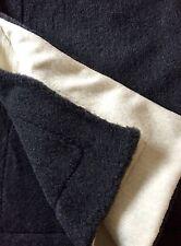 Oberbett in Wellenoptik Anthrazit/Weiß, Wolldecke, Tagesdecke, Merinowolle 100%