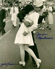 George Mendonsa & Greta Friedman signed VJ Day Kiss WW II EX RARE PROOF LOOK!!