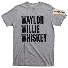 Waylon Jennings Willie Nelson Tennessee whiskey cowboy outlaw biker tee t shirt