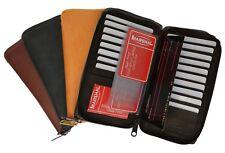 Genuine Leather Checkbook Wallet Credit Card ID Zip Around Organizer Men Women