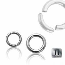 TITAN SEGMENTRING PIERCING silber ~ 53 GRÖSSEN / von 1,2 bis 6,0 mm großer Ring