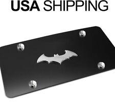 NEW 3D BatMan Dark Knight Black Stainless Steel Vanity License Plate BATMAN BC