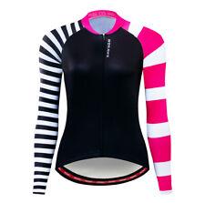 Girl Women s Sportswear Long Sleeve Cycling Jerseys Bicycle Bike Shirts Tops a24c84ff7