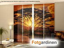 Fotogardinen Afrika, Flächenvorhang, Schiebegardinen mit Motiv, Maßanfertigung