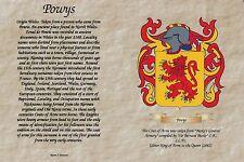 * apellido familiar * la Historia, Crest, escudo de armas, el papel de pergamino, libre de envío *