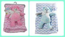 First Steps Super Soft Fleece Blanket Comfort Blanket Toy Baby 6m+ 30° Washable