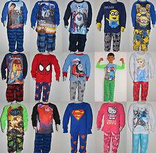Boys & Girls Frozen Kitty Spiderman Turtle Transformers Lego Winter Pyjamas pjs