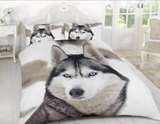 Husky Lobo 3D Lujoso Funda De Edredón Conjuntos de Ropa de Cama Reversible conjuntos por Laura Secret
