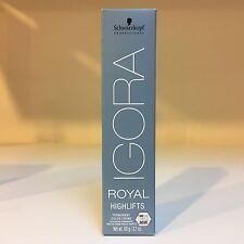 Schwarzkopf IGORA ROYAL HIGHLIFTS permanent hair color cream ~ 2.1 oz/60 g