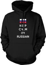 Keep Calm Im Russian ?????? Rossiya Rossiyskaya Federatsiya Hoodie Pullover