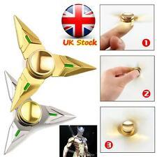 UK OW Overwatch Genji Shuriken Hand Spinner EDC Metal Bearing Fidget Tri Spinner