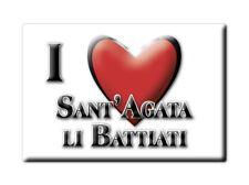 CALAMITA SICILIA FRIDGE MAGNETE SOUVENIR I LOVE SANT'AGATA LI BATTIATI (CT)