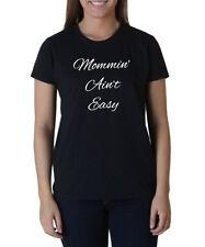 Ladies Mommin' Ain't Easy T-Shirt Mommin Aint Easy Shirt Sundays Brunch Mimosas