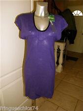 robe violette chanvre KANABEACH BIOLOGIK ozco T 38 NEUF ÉTIQUETTE valeur 89€