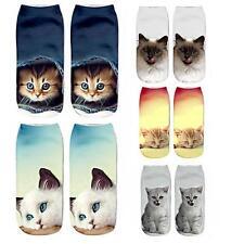 HOT 3D Printed Animal Women Casual Socks Cute Cat Unisex Low Cut Ankle Socks New