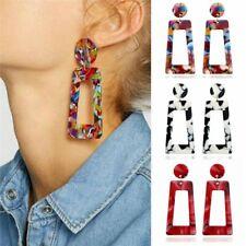 Women Fashion Geometric Acrylic Long Dangle Drop Earrings Ear Stud Jewelry Gift