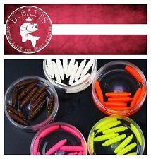 "L.Baits Larva 1.2"" Handmade Custom Soft Flavor Scented Salty Maggot Lure 12pcs"