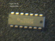 TL074CN LOW NOISE QUAD JFET OP AMPs .  DIP14  4PCS