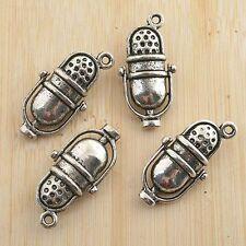 6pcs antiqued silver Microphone design pendant G1194