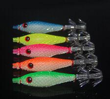 5PCS Fishing Shrimp baits Squid bait lure Lures hook 6.5cm/4g 9cm/7.5g 10cm/12g