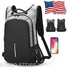 Anti-Theft Men Women Travel Backpack USB Charge Laptop School Bag Rucksack M335