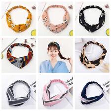 Ladies Headbands Twist Knot Pattern Head Wrap Sport Turban Hair Accessories AU