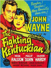 The Fighting Kentuckian (1949) John Wayne Cult Western movie poster print 3