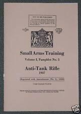 ANTI-TANK RIFLE BOYS 1937 - REPRINTED BRITISH BOOKLET