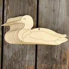 10x Wooden Mallard Swimming Duck Male Empty Craft Shape 3mm Plywood River Birds