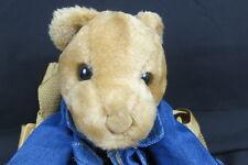ADORABLE JEAN JACKET CHILD'S TEDDY BEAR BACKPACK PLUSH STUFFED ANIMAL TOY