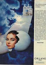 PUBLICITE   1976   ORLANE  cosmétiques  ligne pure