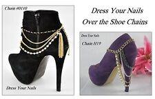 Más de shoe/boot con cuentas de Multi cadena Bisutería gold/silver/black Borla Reino Unido