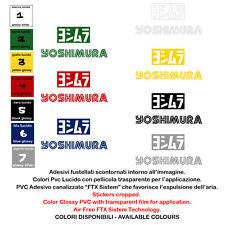 adesivi prespaziato YOSHIMURA sticker sponsor motocycle helmet 2 pz. cm. 12